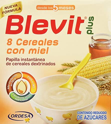 Blevit Plus 8 Cereales Miel, 1 unidad 600 gr. A partir de los 5 meses.