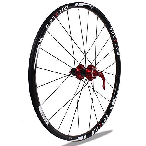 BUCKLOS 【US Stock】 26/27.5/29' Mountain Bike Wheelsets, Carbon Hub MTB Wheels Quick Release Disc Brakes, 24H Low-Resistant Flat Spokes Bike Wheel fit 7-11 Speed Cassette