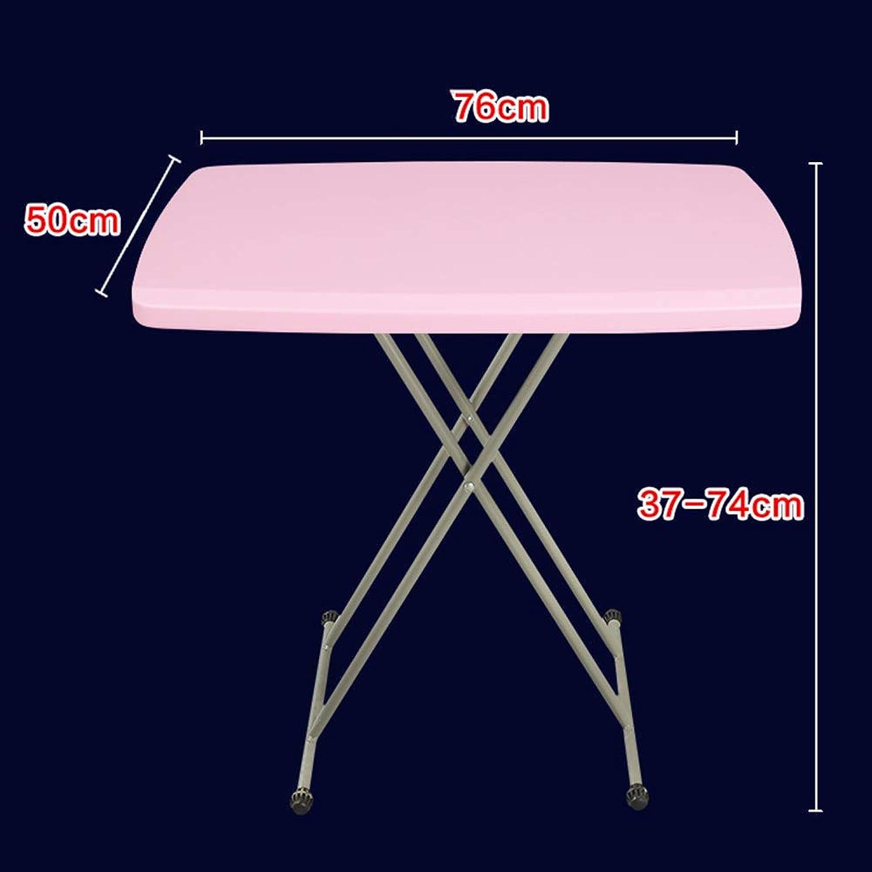 DQMSB Portable Lifting Table Multi-Function Folding Desk Simple Folding Table (color   Pink)