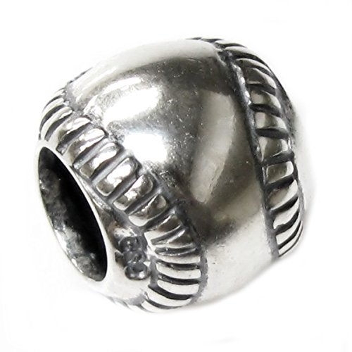 Queenberry Charm-Anhänger Baseball Sterling-Silber 925 europäischer Stil