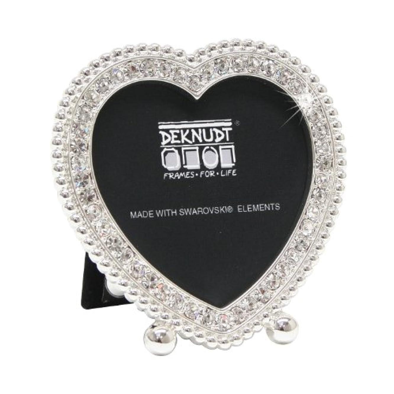 Deknudt Frames S66LA5 Miniframes Silver Heart- Shaped W/ Swarovski Elem. - 5.0X5.0 cm