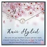 Grace of Pearl Hair Stylist Joyería Regalo para Peluquería Regalo para Peluquería Regalo de Agradecimiento Peluquero Apreciación Peluquero