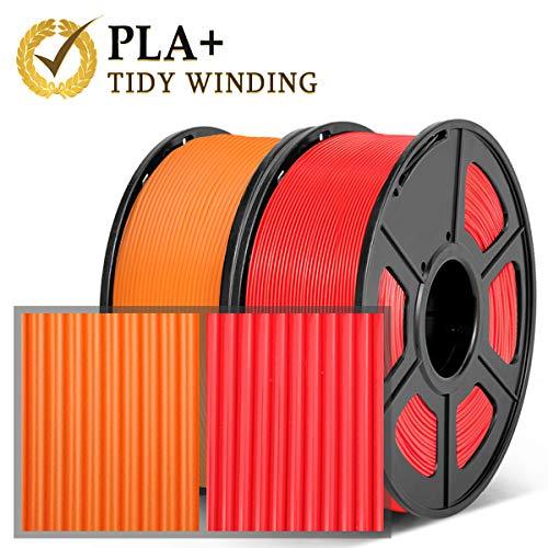 Sin bobinado Sin enredos PLA+ Negro PLA Plus Filamento 1,75 mm,1KG,Bobinado Ordenado Actualizado