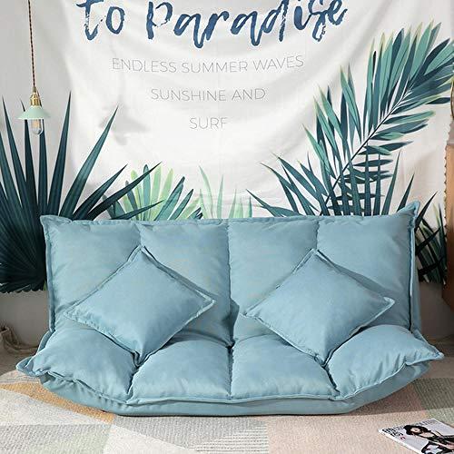 Sala De Estar Dormitorio Video-Juegos De,Sofá doble vago plegable, sofá cama con suelo de tatami, dormitorio de doble uso, juego de fiesta para padres e hijos, silla de cama con colchón, azul claro