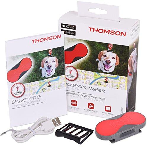GPS Tracker Thomson für Haustiere, Hunde, Katzen Pferde und mehr | Activity Tracker| Für iPhone | App PET SITTER Hundefinder Katzenfinder Cartracker Pet Tracker