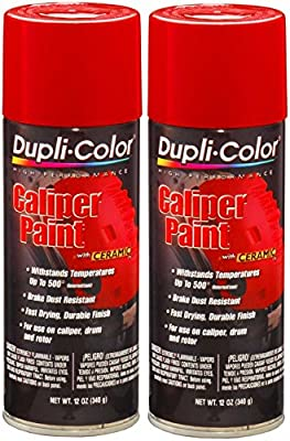Dupli-Color BCP100 Red Caliper Paint with Ceramic 12 oz. Aerosol (2 Pack)