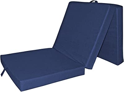 VitaliSpa® Colchón Plegable Cama Invitados Supletoria Viaje Azul