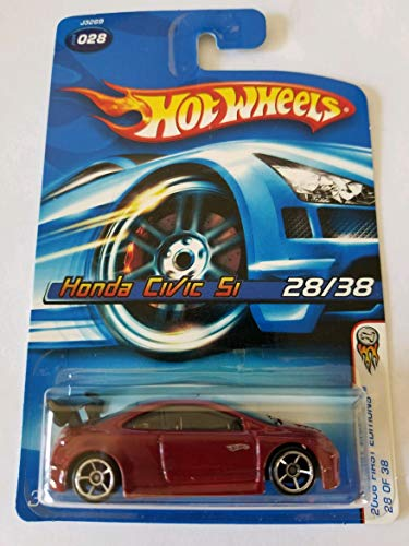 2006 Hot Wheels First Editions Honda Civic Si Red #2006-028