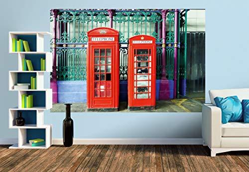 Premium Foto-Tapete Typisch London (verschiedene Größen) (Size M | 279 x 186 cm) Design-Tapete, Vlies-Tapete, Wand-Tapete, Wand-Dekoration, Photo-Tapete, Markenqualität von ERFURT
