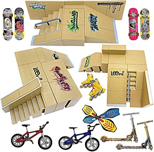 Ultimate Finger Skateboard Ramp Set 23 Pieces Finger Skateboard Set with Skateboards Ramps Skates product image