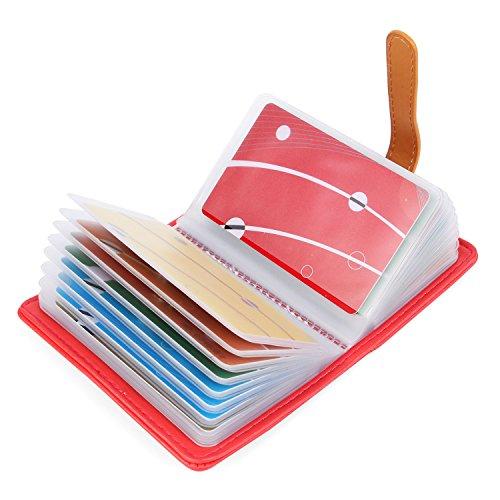 Diseño de cuero de alta calidad, se siente cómodo, bonito y duradero. Puede poner 26 tarjetas máximas, tales como tarjetas de crédito, tarjetas bancarias y tarjetas de membresía, etc. Diseño adecuado, cuenta con buena experiencia. Después de usar la ...