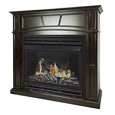 Pleasant Hearth 46 Full Size 32,000 Liquid Propane Vent Free Fireplace System 32K BTU, Rich Tobacco by GHP Group, Inc.