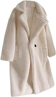 Faux Fur Coats Womens Warm Plush Coat Faux Fur Overcoat Long Coat Outerwear Elegant Luxury Parka Loose Jacket