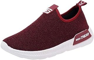 2019 Zapatillas De Deporte Para Mujer, Loafers Zapato De Color Solido Con Plataforma De Suela Cómodas Calzado Sin Cordones...