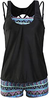 Expxon Tech女性 大きいサイズ スリム セクシー 水着 スポーツスタイル、ビキニ 水着 分割 水着スリーピース ビーチ ビキニ セット 爽やか 夏 おしゃれ スリム ファッション 大人用 ビーチウェア タンキニ