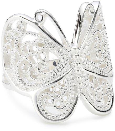 Vinani Ring Schmetterling Paisley glänzend Sterling Silber 925 Größe 60 (19.1) RSL60