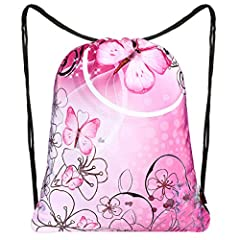 iColor Drawstring Bag Backpack Sackpack Made of the premium quality Water Resistance Nylon materials, Large Capacity,Lightweight & fashionable team training gym sacks.Use for Gym, Yoga class,Cycling,Walking,Riding & Other Outdoor Sports This Foldable...