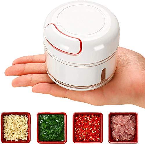 NBCDY Hachoir Manuel, Hachoir à légumes Presse-ail, Robot de Cuisine Portable à Main, pour légumes, Fruits, Salade avec séparateur d'oeufs
