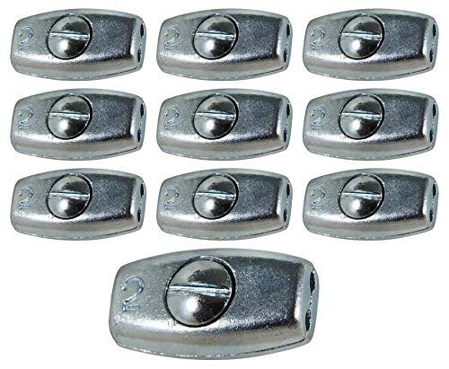 Eider, 2 mm-10 Weidezaun Litzenverbinder Ei Plus, 10 Stück, bis 2 mm