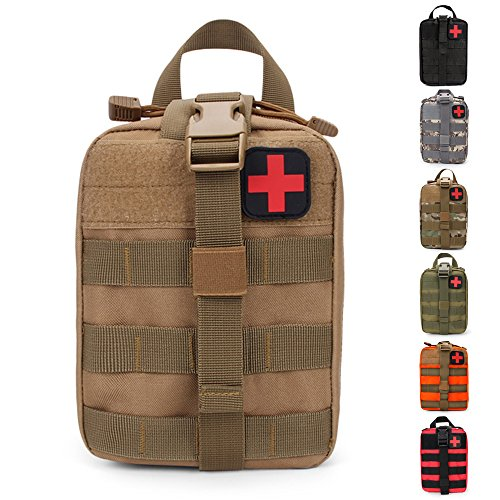 HX OUTDOORS Tactical Molle Rip-Away EMT Medical First Aid IFAK Lifesaving Pouch, Outdoor Medical Package, Bergbedering…