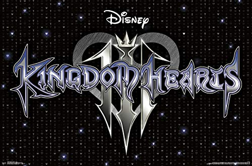 Trends International Disney Kingdom Hearts 3 - Logo Wall Poster, 22.375' x 34', Poster & Mount Bundle