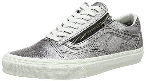 Vans Unisex-Erwachsene Old Skool Zip Low-Top, Mehrfarbig ((Disco Python) Black/Blanc De Blanc), 41 EU