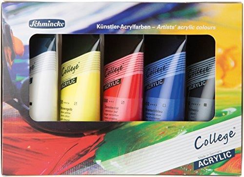 College Acrylfarbenset Schmincke, Kartonset 5 x 75 ml
