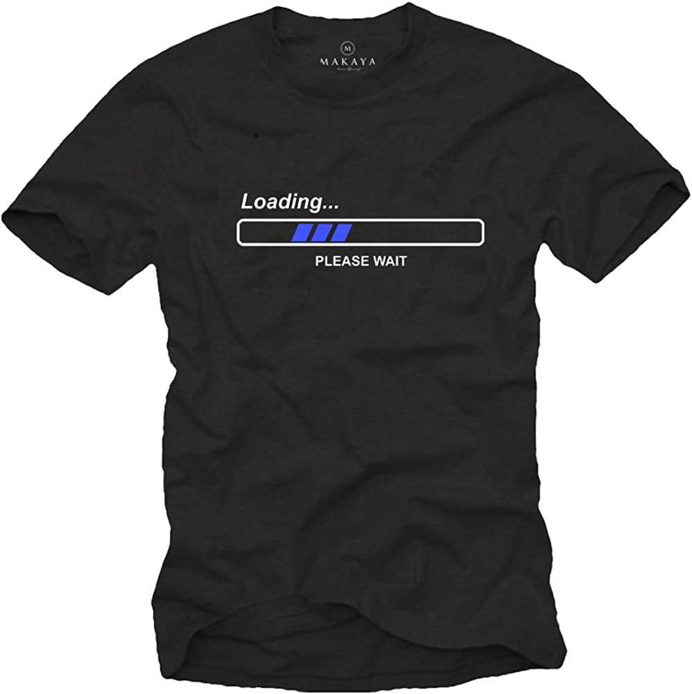 Labricot blanc Manches Courtes T-Shirt Humour Geek Batterie Faible Besoin de Repos Taille S Couleur Noir