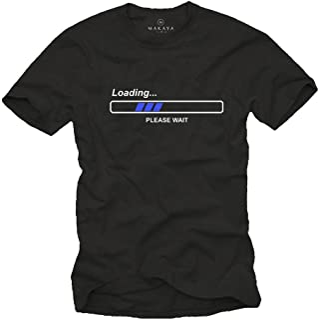 MAKAYA Camisetas con Frases Divertidas - LOEADING Pleas Wait