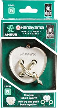 Bepuzzled Amour Hanayama Cast Metal Brain Teaser Puzzle  Level 5  Puzzles For Kids & Adults Ages 12 & Up