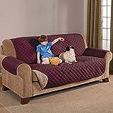 Sara Ashley Elegante Luxurious Reversible Sofa Furniture Protector, Coffee/Tan
