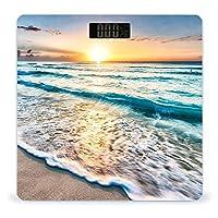 オーシャンズサンセットウェーブ LCDディスプレイ付き高精度スマートフィットネススケール体重デジタルバスルームボディスケール