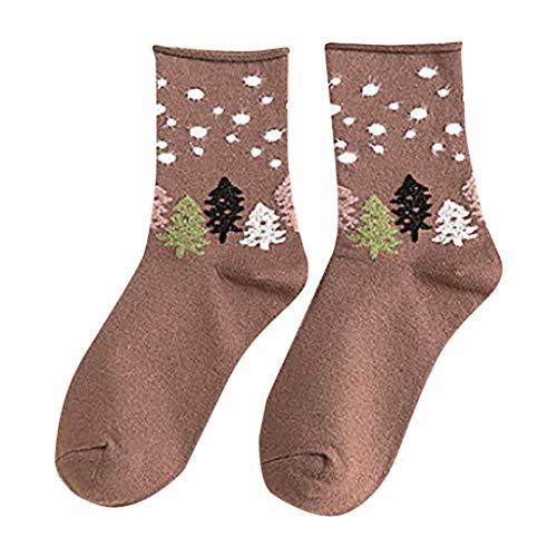 Lazzboy 1pair Rolled Socks Baumwolle Mid Tube Casual Weihnachten Polka Dot Socken Damen Sneakersocken Füßlinge Mehrfarbig Mit Streifen, Punkte Und Herzen(Khaki)