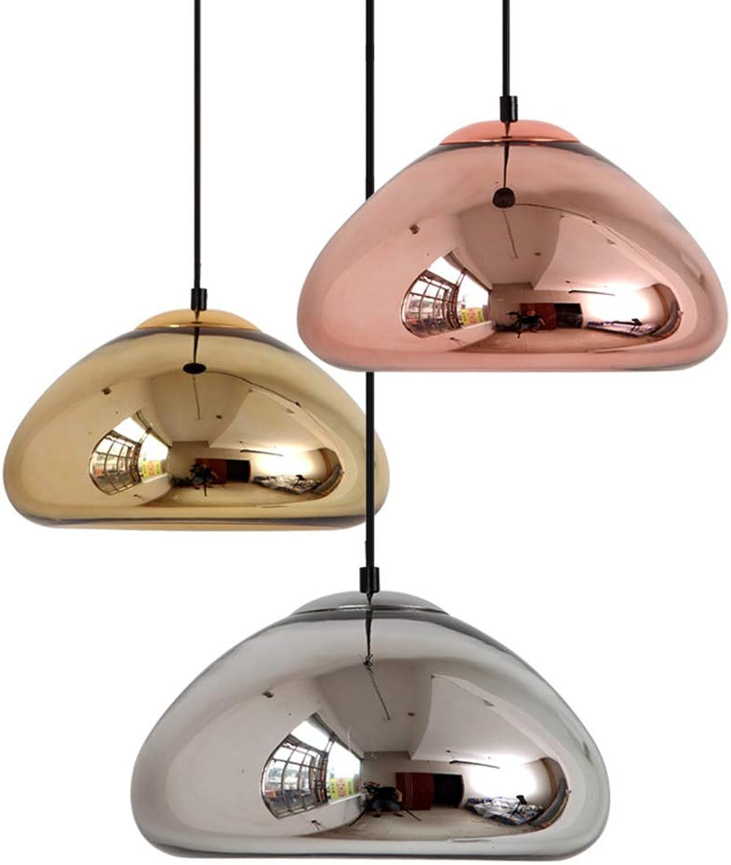 Nordischer postmoderner Restaurantkronleuchter Kreativer Bartisch, Café, Schlafzimmer, Bekleidungsgeschft, einfache einkopfige Glaslampe,Silber,φ18cm