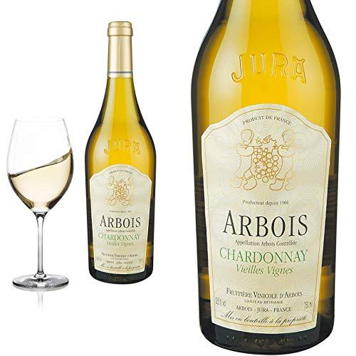 12er Karton 2018 Arbois Jura Chardonnay Château Béthanie Fruitière Vinicolé Weißwein