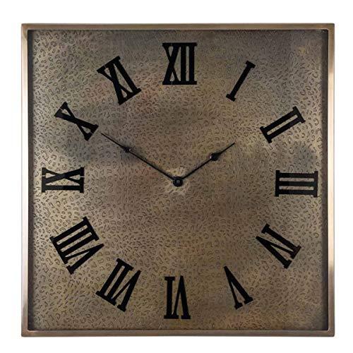 Richmond Interiors - Wanduhr, Uhr - Brandlee - Metall, Glas - Maße (LxBxT): 60 x 60 x 5 cm
