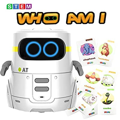 Silanto Robot Toy|Educational Robot with Touch Control for Kids|Interactive Mini Robot for School Prize, Children Gift (White)