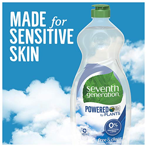 Seventh Generation Dish Liquid Soap, Free & Clear, 25 oz (Packaging May Vary)