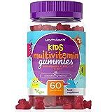 Kid's Multivitamin Gummies   1-A-Day: 2 Months Supply   Essential Nutrients for Children: Vitamin C, D, A & B Vitamins   Natural Berry Flavour   60 Fruity Gummy Bears - Vegan