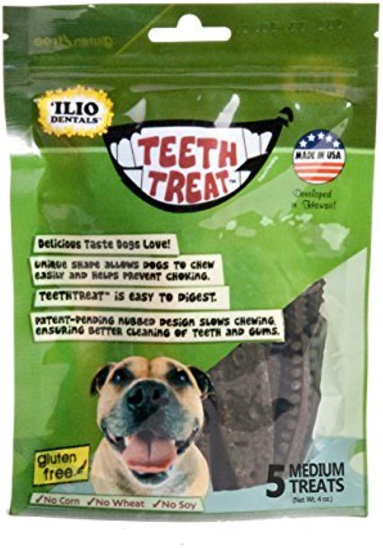 Ilio Dentals Teethtreat Dog Dental Treats, Medium, 5 Treats