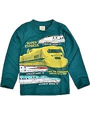 新幹線 ロンT 長袖Tシャツ プリント ティーシャツ キッズ ベビー服 男児 電車 男の子 子供服