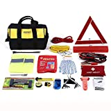 Mofeez Portable Roadside Assistance Auto Emergency Kit + First Aid Kit...