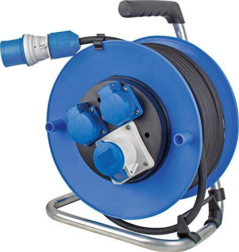 as - Schwabe 10176 Kabeltrommel, 230 V, blau, 25 Meter