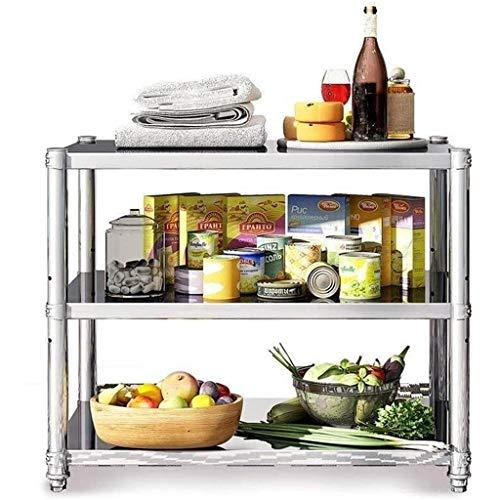 lcy Cuisine en Acier Inoxydable Support de Rangement étage 3 Niveaux Permanent Four à Micro-Ondes Vaisselle étagère de Rangement Pot Rack