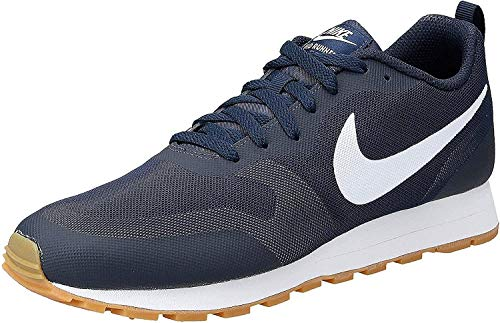 Nike Herren MD RUNNER 2 19 Laufschuhe, Blau  (Obsidian/White-Monsoon Blue 400), 44 EU, (UK 9)