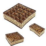YHSGY 3Pc / Set Ropa Interior Caja De Almacenamiento Organizador Cajón Plegable Divisor Bras Calcetines Contenedor Lavable Armario Armario Set