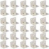 40 piezas 90 Grados Corchete Angular Ángulo de Acero Corner Brace escuadras para estanterias para muebles sillas estantería muebles mesa ventana (33 x 33 mm)