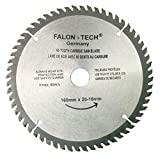 Falon Tech Lame de scie circulaire de qualité supérieure pour bois 160 x 20-16 mm 60 dents