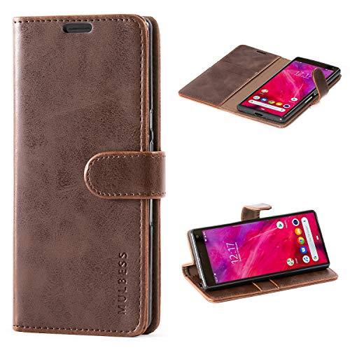 Mulbess Handyhülle für Sony Xperia 10 Hülle, Leder Flip Case Schutzhülle für Sony Xperia 10 Tasche, Vintage Braun