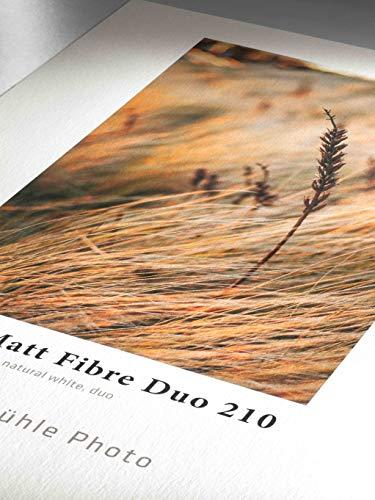 Hahnemühle 10641910 Photo Matt Fibre Duo Papier, 210 g/m², DIN A4, 210 x 297 mm, naturweiß